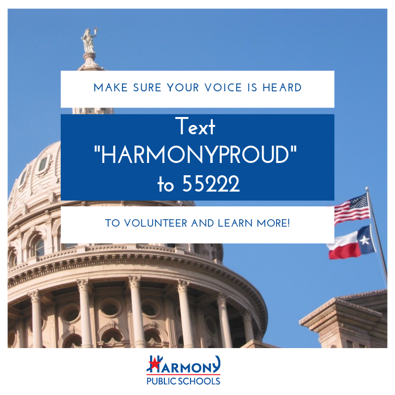 """Make sure your voice is heard: text """"HARMONYPROUD"""" TO 55222 to volunteer and learn more!"""