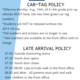 Car Tag & Drop Off Policies