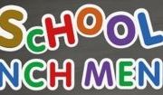 image is the words school lunch menus in different color each letter