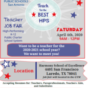 Want to be a teacher for the 2020-2021 school year? We want to meet you!