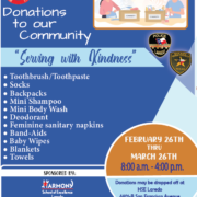 Dear Parents and Scholars, Harmony School of Excellence - Laredo, Harmony Science Academy - Laredo, and Harmony School of Innovation - Laredo are working together to give back to individuals in our community. With the support from our Harmony family (scholars, parents, and staff), we will serve our community with kindness by preparing and donating personal care packages to the Laredo Police Department and Sheriff Department which will be issued to community members in need. For any questions please call our front office at (956) 791-0007.