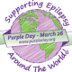 An image of the Supporting Epilepsy Purple Day logo on Marge 26