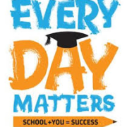 An image stating Every Day Matters for school attendance