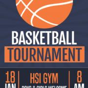 An image of the HSI Boys & Girls Basketball Tournament on Jan 18th beginning at 8 am