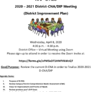 Invitation to join the annual DIP meeting April 8th