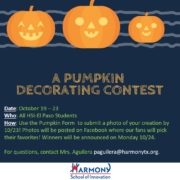 An image of fall pumpkin decorating contest flyer.