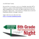 An image of the 8th grade transition night flyer.