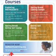 An image of the UpReach Learning flyer