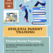 An image of the Dyslexia Parent Training Flyer