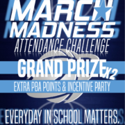An image of the March Madness Attendance Challenge Flyer.