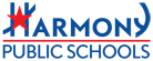 Harmony Public Schools Logo -- blue version small