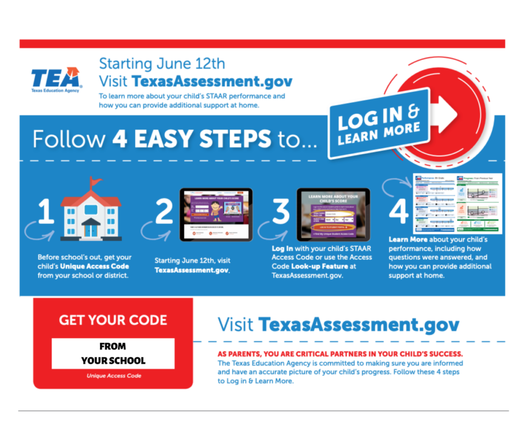 STAAR scores will become available to view beginning June 12, 2019.